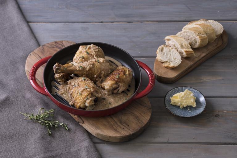 Chicken in malt vinegar