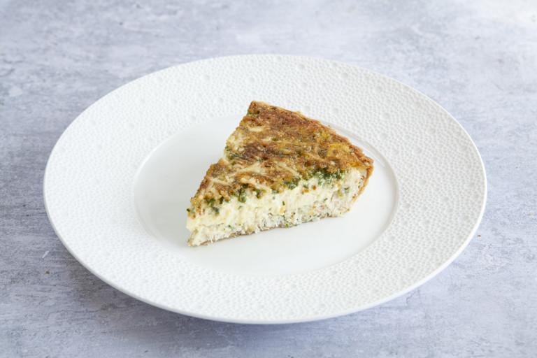 Crab and Le Gruyère AOP tart