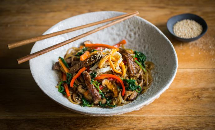 Japchae Korean Noodles