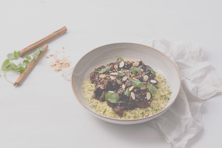 Sous vide beef and prune tagine