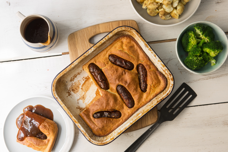 Gluten-free toad in the hole