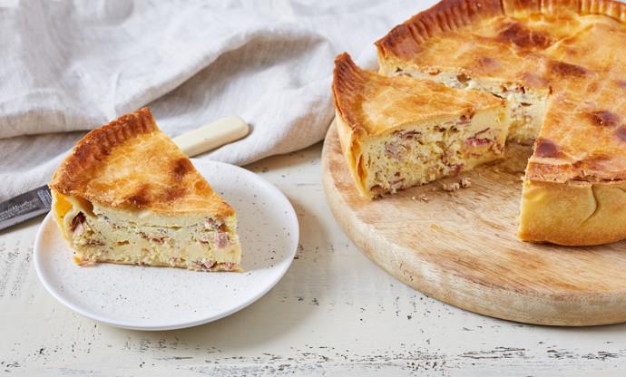 Pizza rustica – Italian ham and egg pie