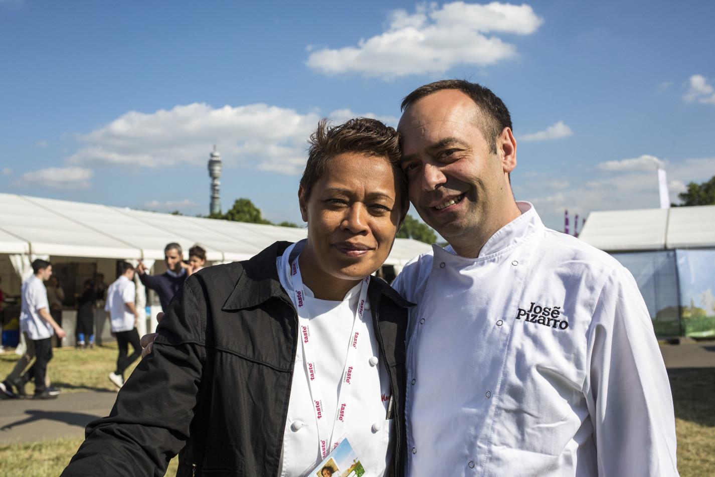 Monica Galetti and Jose Pizarro at Taste of London