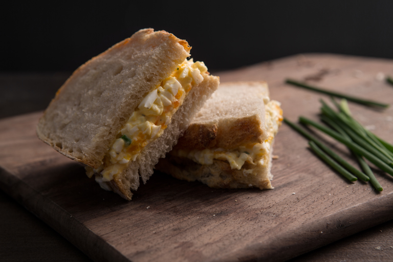 The perfect egg mayo sandwich