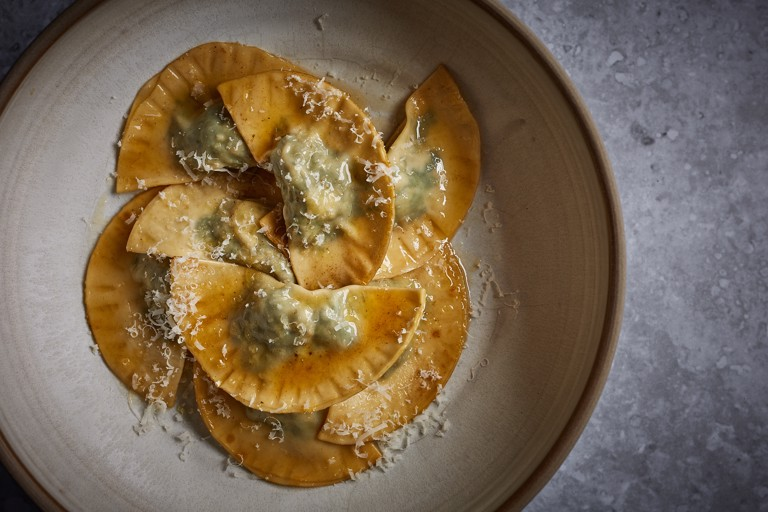 Schlutzkrapfen – Pasta filled with spinach and ricotta