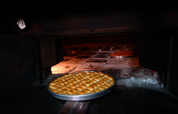 Baklava cooking