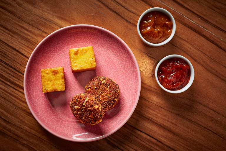 Pithod and Bengali spiced vegetable cakes