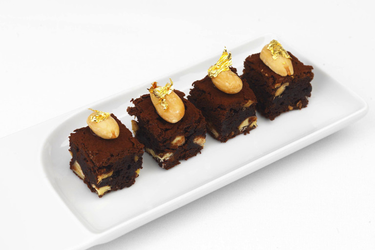 Chocolate and salted almond brownies