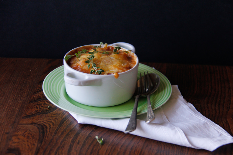 Autumn warmer: beans, squash and meat stew