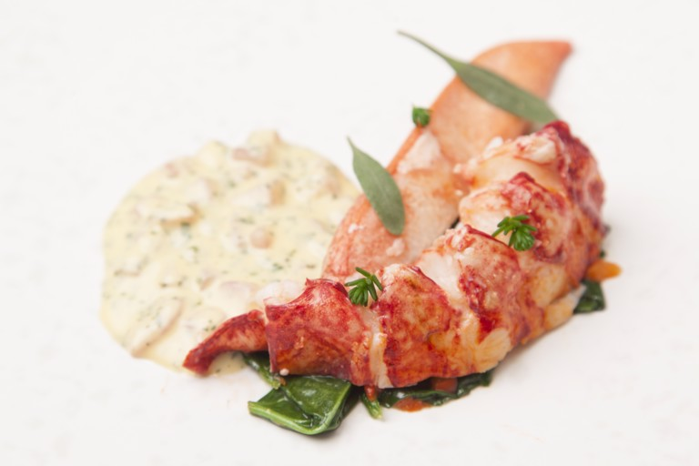 Sous Vide Lobster with sauce Choron