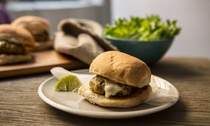 Cod and mackerel burgers