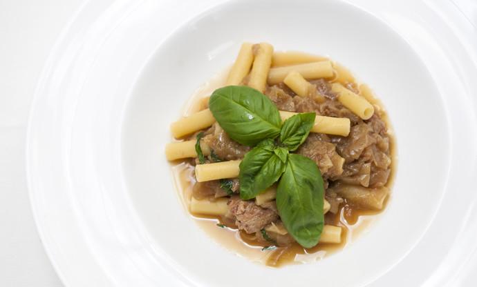 Pasta alla Genovese with tuna