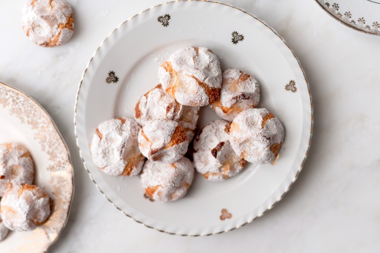 Clementine-scented marzipan biscuits
