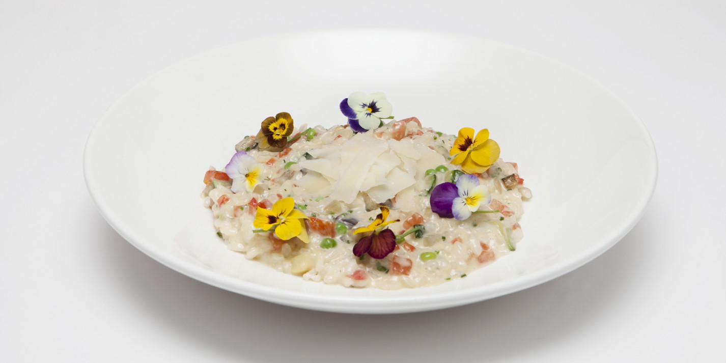 Seasonal vegetarian risotto