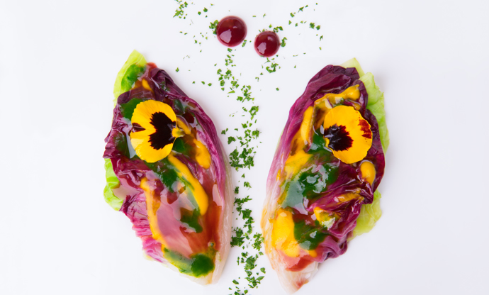 Butterfly salad