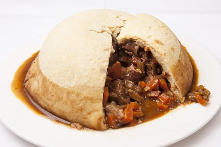 Steak, kidney and oyster pudding