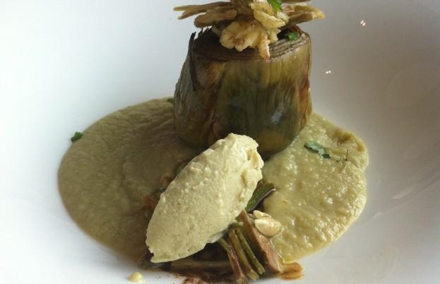 Artichoke dish at Alice Ristorante