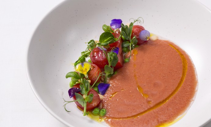 Spring tomato gazpacho