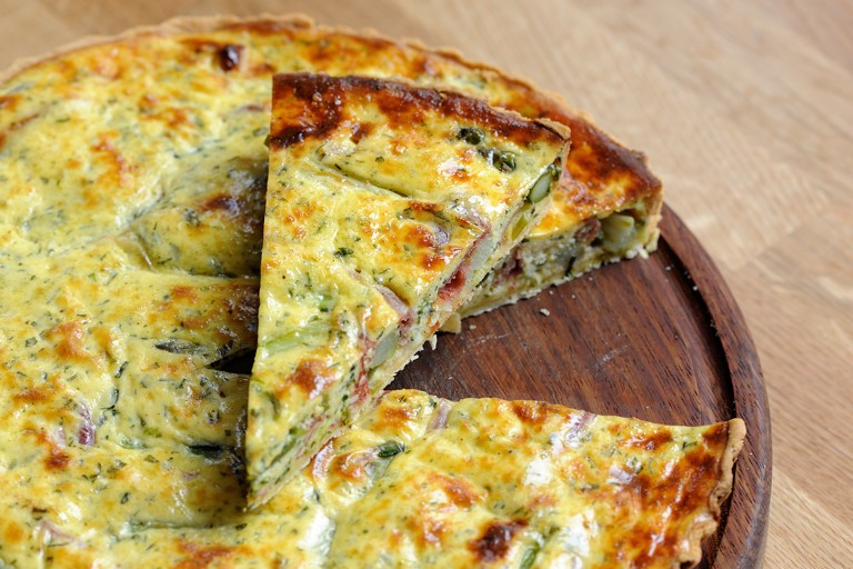 Asparagus and chervil quiche