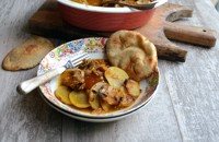 Madras and apricot beef hotpot