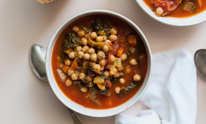 Minestra di Ceci alla Marchigiana (Chickpea Soup, Marche-Style)