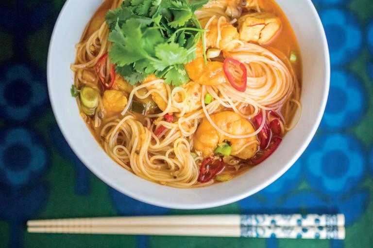 Spicy noodle laksa