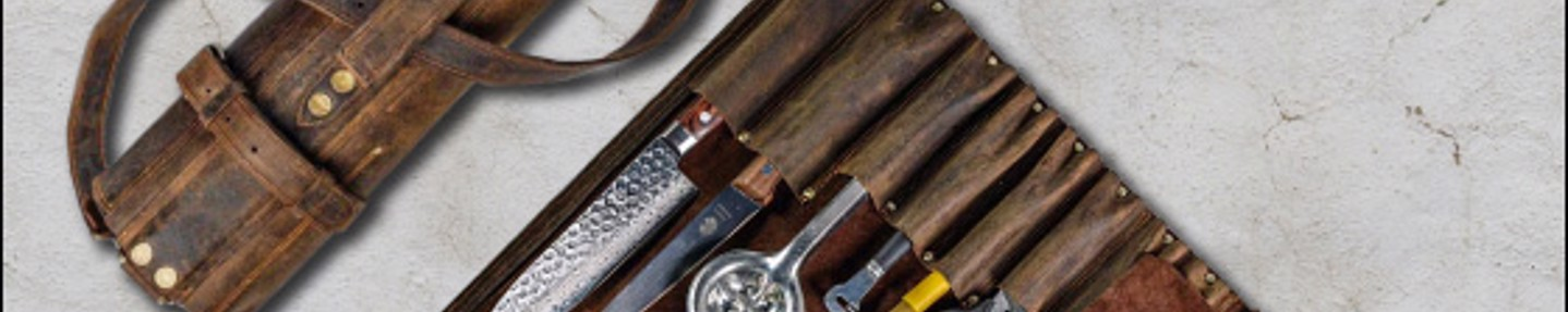 Win a leather knife roll worth £150