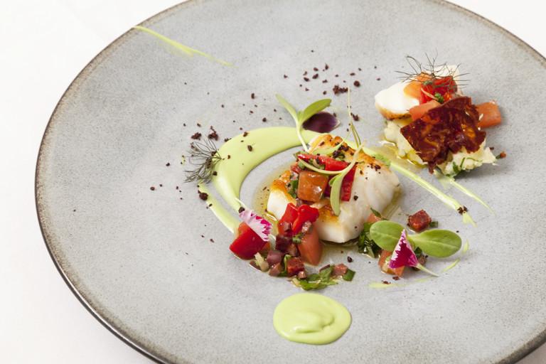 Icelandic cod, avocado and chorizo