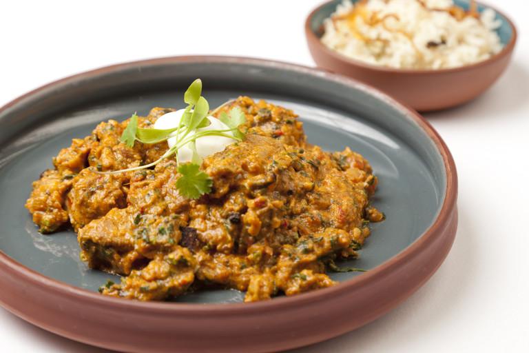 Jungle style curry of turkey with fresh fenugreek
