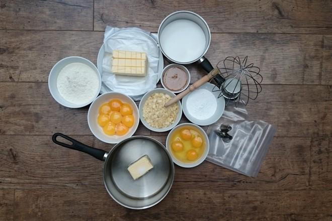 Paris-Brest ingredients