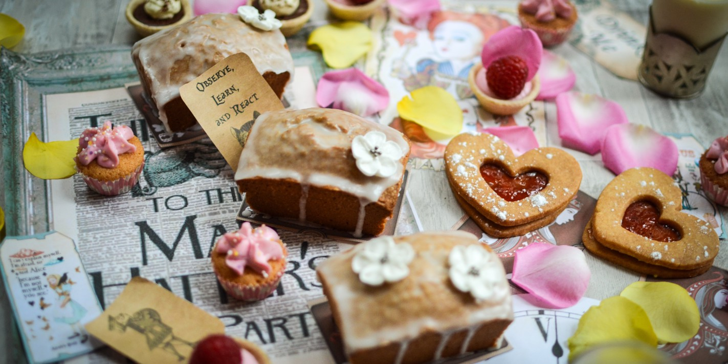 Teapots and tarts for Alice's anniversary