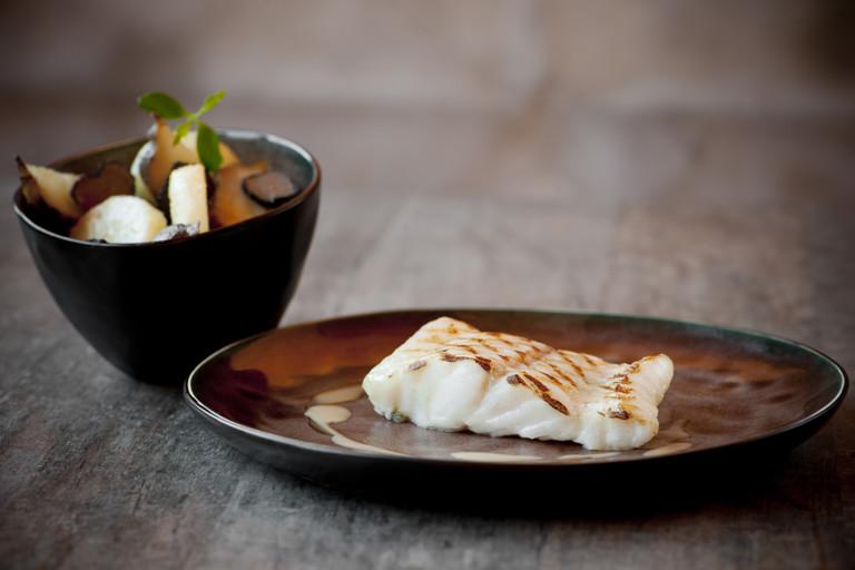 Turbot, celeriac, Jerusalem artichoke and truffle