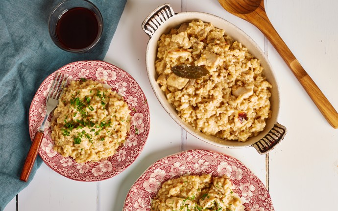 Riso alla pitocca - chicken rice dish
