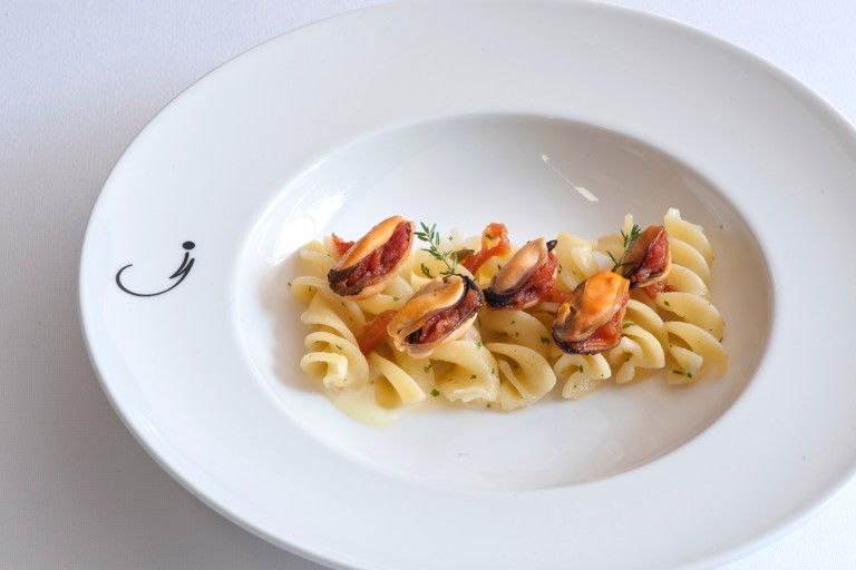 Pasta, potatoes and mussels