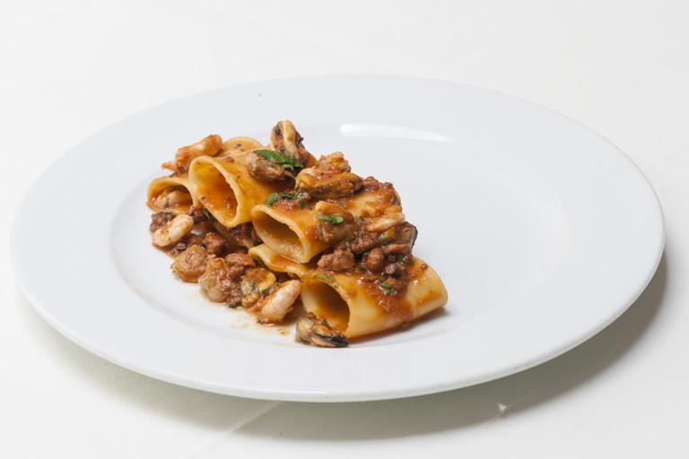 Paccheri with seafood ragù