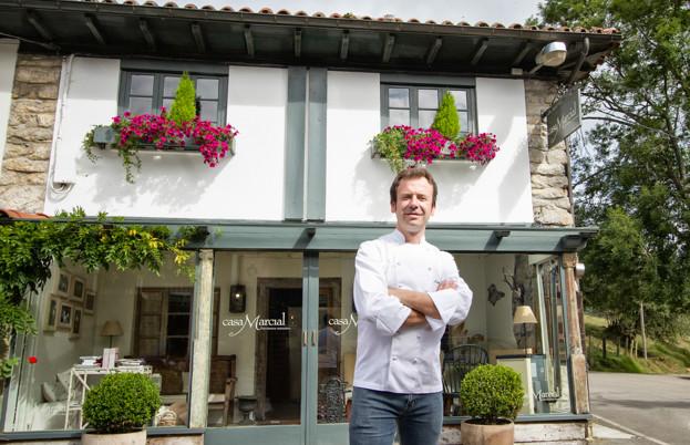 Nacho Manzano outside his two Michelin-starred flagship restaurant Casa Marcial