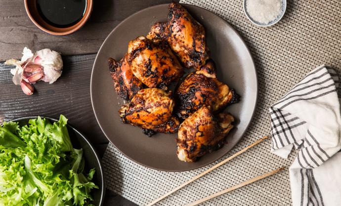 BBQ marinated chicken thighs