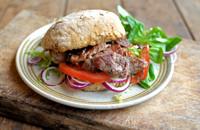 Lamb minute steak sandwiches with onion jam