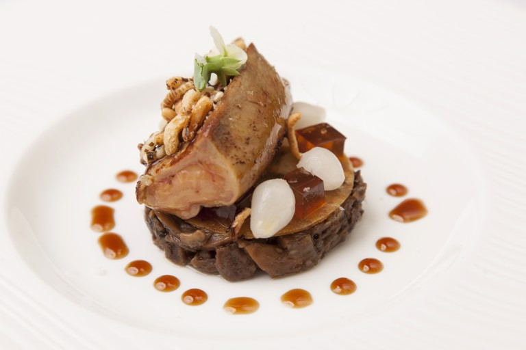 Foie gras with mushroom duxelle
