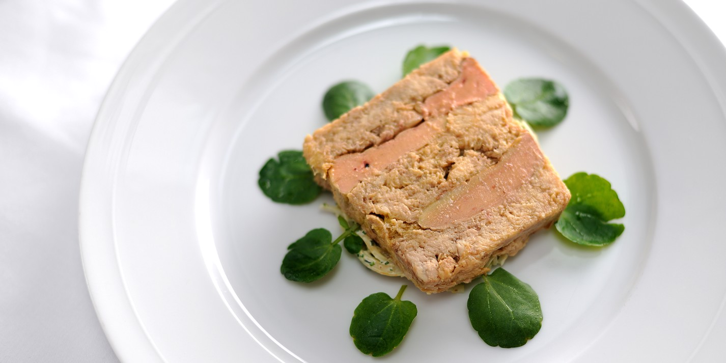 Terrine of confit chicken and foie gras with celeriac remoulade