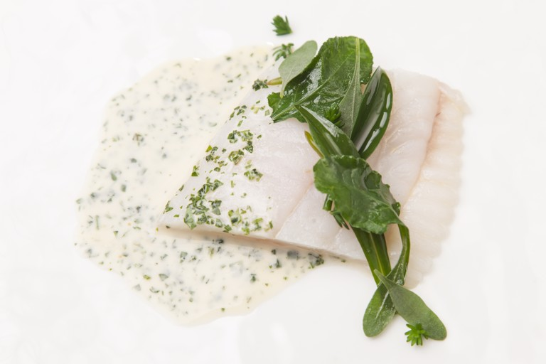 Brill with Fish Fumet and Sea Herbs