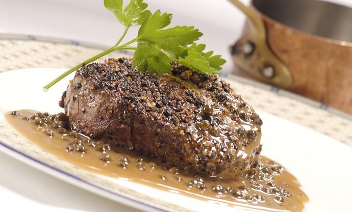 Heathcotes' steak au Poivre
