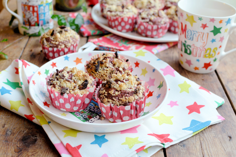 Christmas morning coffee and pecan crumble muffins
