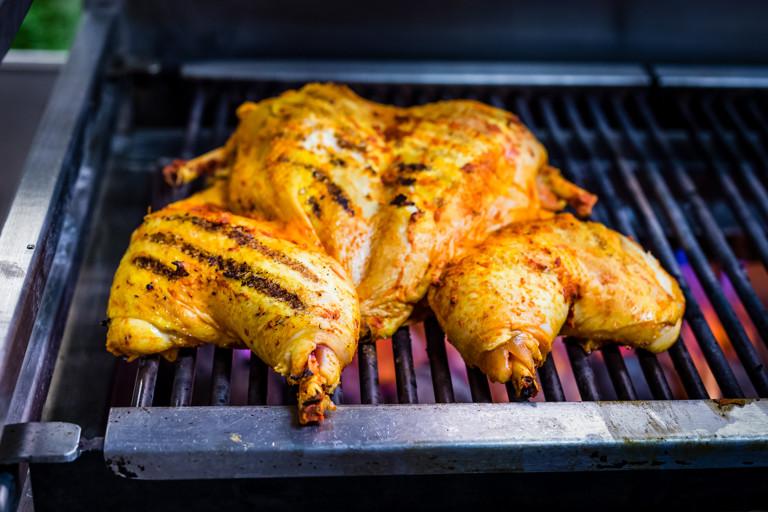 Summer marinated spatchcock chicken