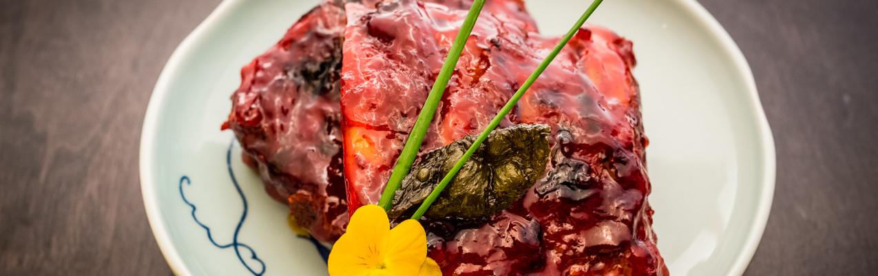 Tea-smoked pork ribs