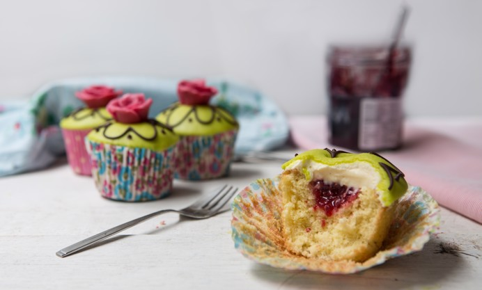 Swedish princess cupcakes