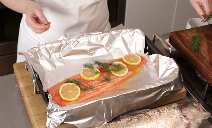 How to bake trout