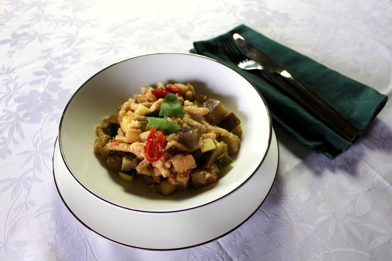 Passatelli with vegetable ragù