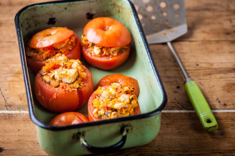 Turkey stuffed tomatoes