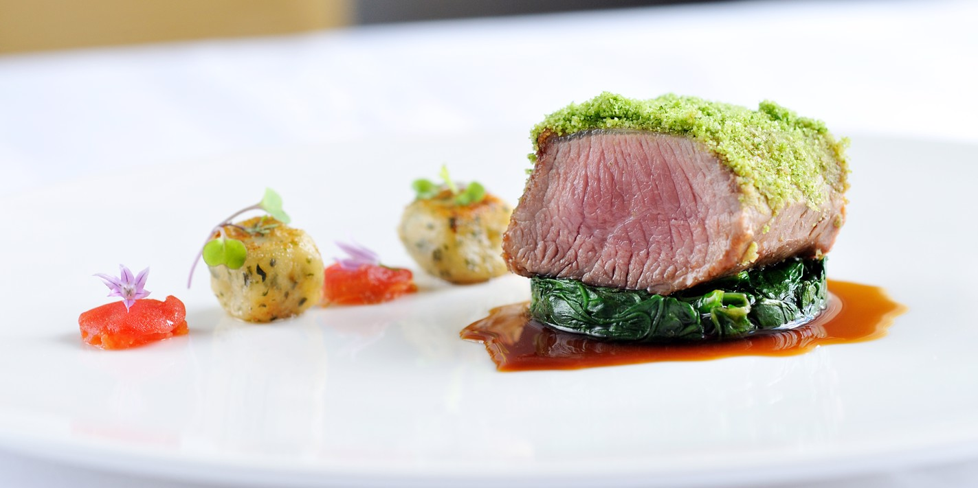 How to prepare a lamb loin from a rack of lamb